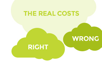 The wrong price and the <strong>Ryano price</strong>. Ryano always gives you a real price that includes up-front operational costs as well as implementation costs.